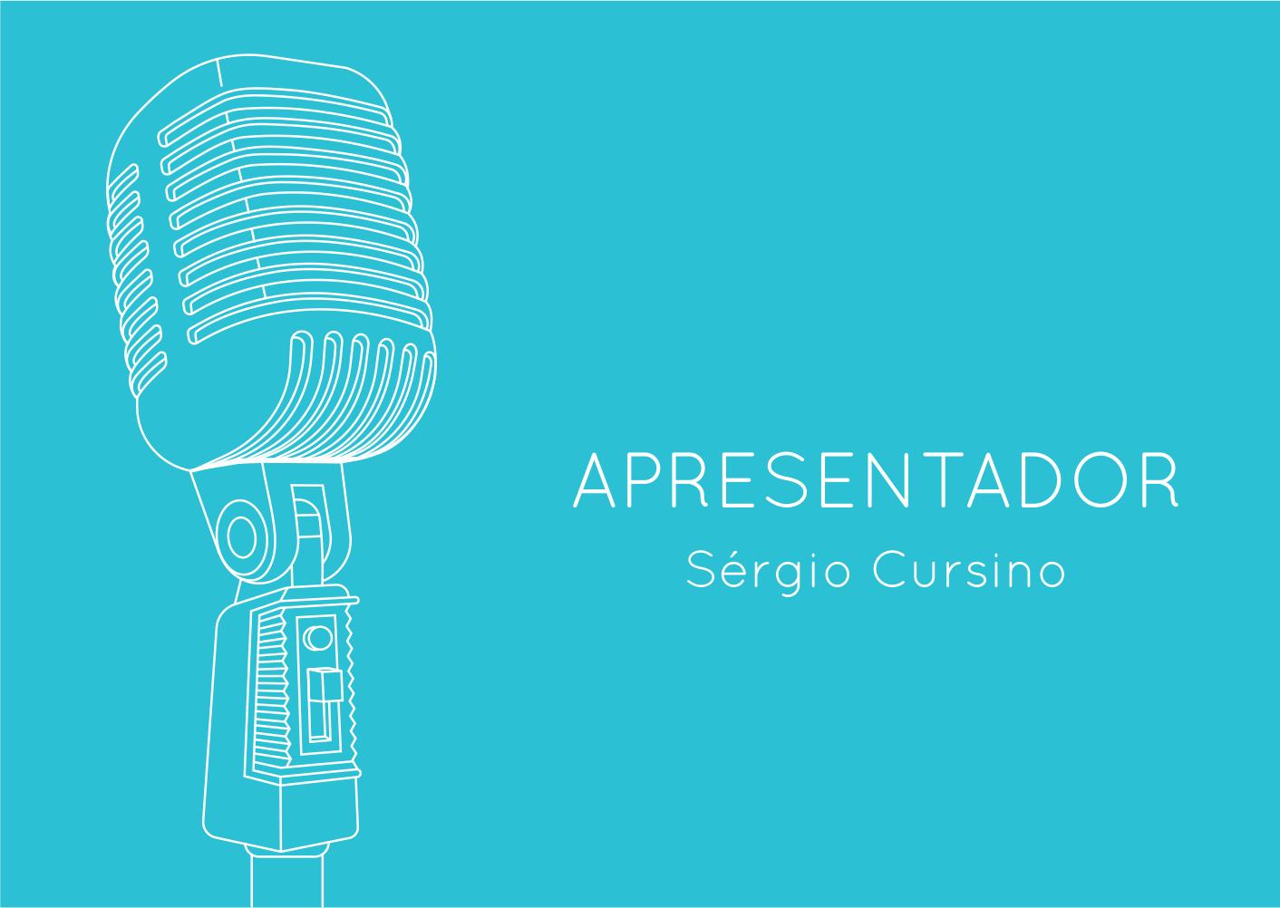 Apresentador Sérgio Cursino